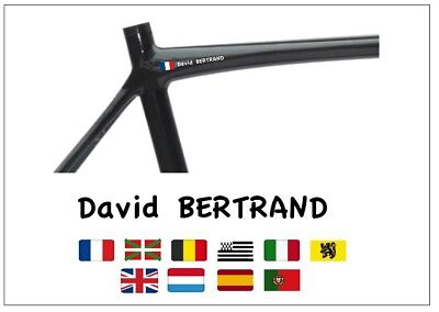 Nom Cadre Velo Perso 10 Couleurs / Personalised Bike Name Frame 10 Colors Casua