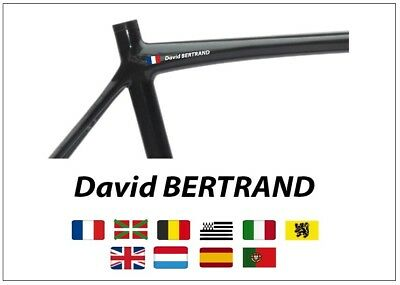 Nom Cadre Velo Perso 10 Couleurs / Personalised Bike Name Frame 10 Colors Mrd