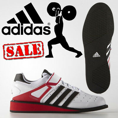 adidas Power Perfect 2 Mens Weightlifting Shoes White Gym Trainers CLEARANCE