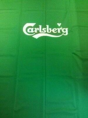 GREEN 7x4 WOOL QUALITY POOL TABLE CLOTH BED & CUSHIONS (CARLSBERG LOGO)