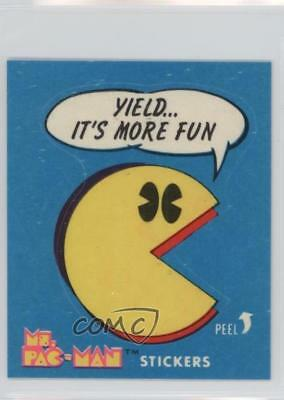 1981 Fleer Ms Pac-Man Stickers #9 Yield…It's More Fun Non-Sports Card 5l1