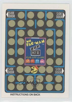 1981 Fleer Ms Pac-Man Stickers Rub-Off #NoN Unscratched Game Card (Act II) 5l1