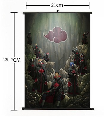 "Hot Japan Anime Naruto Akatsuki Cosplay Poster Wall Scroll 8""×12"" FL851"