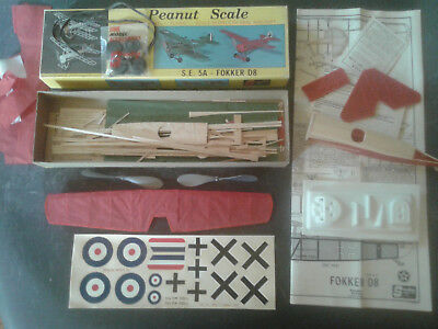 KIT P1 STERLING MODEL - balsa - PEANUT SCALE - avion plane FOKKER D8 + S.E.5A