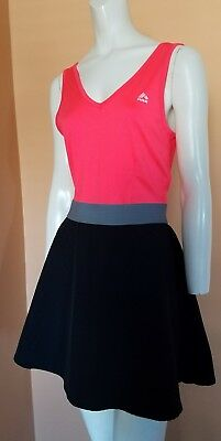 EUC Women's RBX Tennis Running Athletic Dress Size L Neon Pink/Black