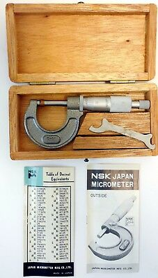 """JAPAN MICROMETER NSK 1""""  Model AABO2 IL Made in Japan"""