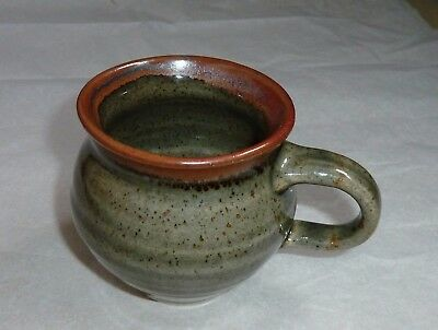 Mug by Made in Cley- Celadon finish iron rim decoration Discontinued design