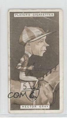 1925 Player's Racing Caricatures Tobacco Base 19 Hector Gray MiscSports Card 1m8