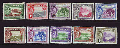Dominica. Mounted Mint Selection.