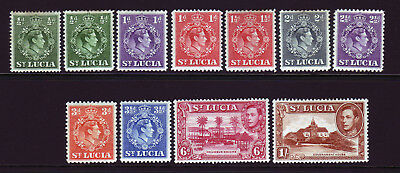 St Lucia. Mounted Mint Selection.
