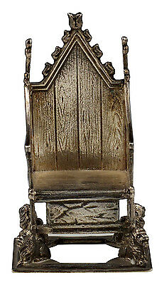 Wonderful Heavy Casted English Sterling  Silver Chair w/ Lions