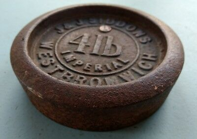 Antique 4lb Cast Iron Weight - Manufactured by 'JJ Siddons, West Bromwich'