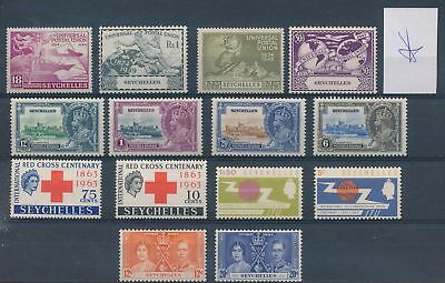 LH22296 Seychelles nice lot of good stamps MH