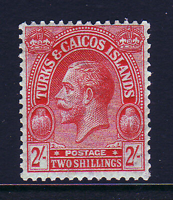Turks & Caicos. Sg 138, 2/- Red/blue Green. Mounted Mint.