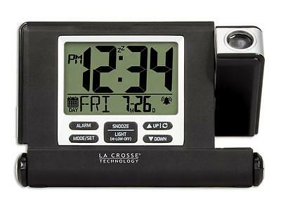 616-1908 La Crosse Technology Travel Projection Alarm Clock with USB Refurbished