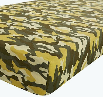 Green Camouflage Double Fitted Sheet