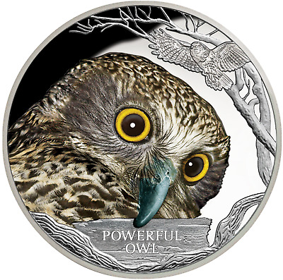 1 Oz Silber Proof Powerful Owl / Eule Endangered and Extinct Tuvalu 2018 silver
