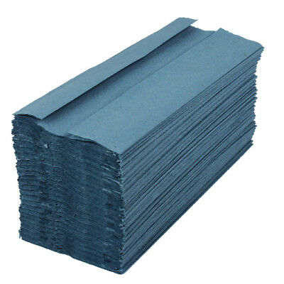 2Work Blue 1 Ply C-Fold Hand Towel (Pack of 2955) KF03800
