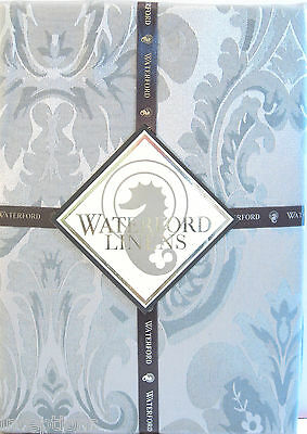 Waterford Damask Tablecloth Whitmore Platinum 70 x 84 - NEW