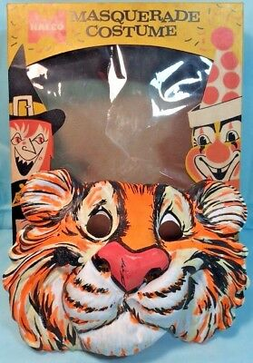 RARE Vintage 1960s ESSO/EXXON Oil Humble TIGER Halco Halloween Ventilated MASK