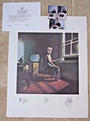 RUSH Band Signed Autographed Lithograph Poster All 3  #424 of 500 Power Windows