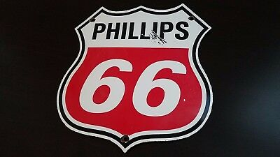 Vintage Phillips Gasoline Porcelain Gas Oil Service Station Pump Plate Sign