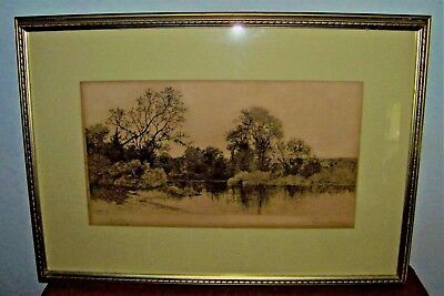 Beautiful & Rare 1893 E.C. Rost Framed & Matted Engraving