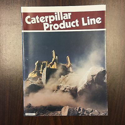 CATERPILLAR PRODUCT LINE 1983 Vintage Catalog Brochure CAT Equipment Photos Spec