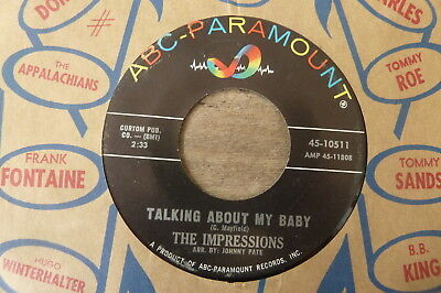 The Impressions - Talking About My Baby 1964 USA 45 ABC PARAMOUNT