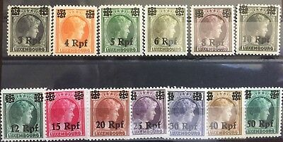 1940 Luxembourg German Occupation Stamps - MNH