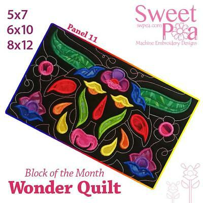 Machine Embroidery Pattern BOM Block of the month wonder quilt block 11