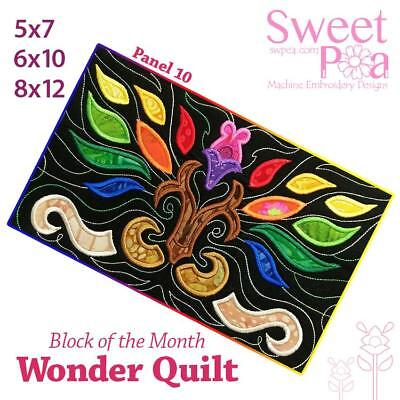 Machine Embroidery Pattern BOM Block of the month wonder quilt block 10