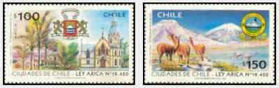 Timbres Chili 1404/5 ** année 1996 lot 23252
