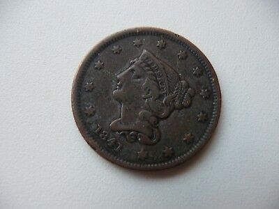 piece USA   ONE  CENT 1841 ( cuivre)