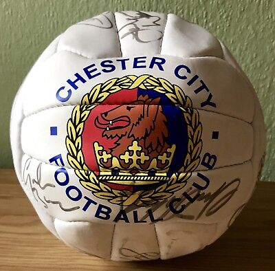 1991-1992 Chester City Football Club Squad Autographed Football