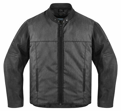 Icon Mens 1000 Collection Vigilante Textile Jacket With Leather Sleeves 2014