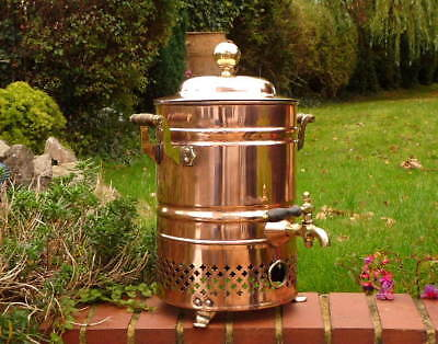 EDWARDIAN COPPER COMMERCIAL CAFE - ANTIQUE WATER URN with BRASS DISPENSER TAP