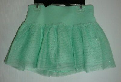 Girls Justice Mint Green Size 6 Skort with sparkles