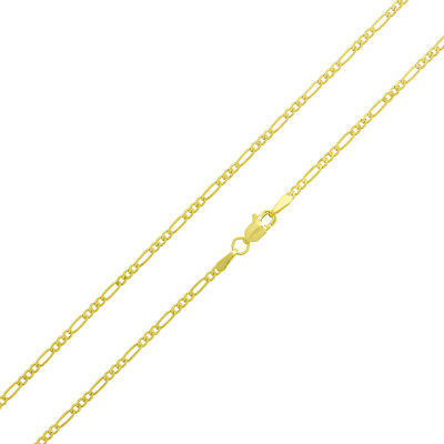 "14k Yellow Gold 1.8 mm Figaro Chain Necklace, 16"" to 20"""