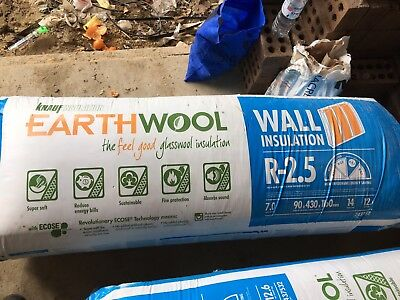 Premium Brand, Earthwool Brand New Roof insulation and Wall insulation batts