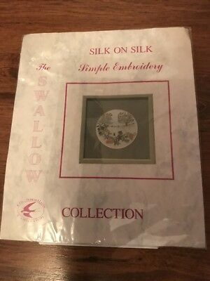 The Swallows Collection Silk on Silk Simple Embroidery Kit - Unopened