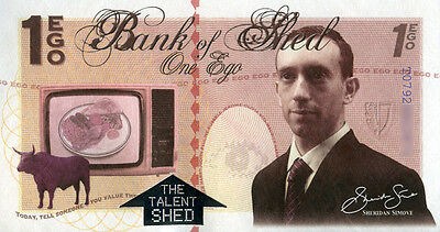 UNIQUE CURRENCY - CONTEMPORARY ARTWORK 'THE EGO' BANKNOTE from Shed Simove