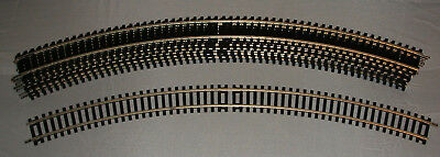 Hornby OO Track: 8 x R609 3rd radius Double Length Curves, nickel-silver. NEW