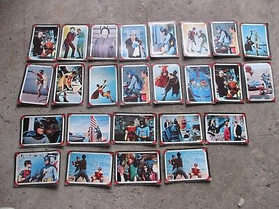 VINTAGE OLD ANTIQUE c1966 BATMAN PLAYING CARDS x25