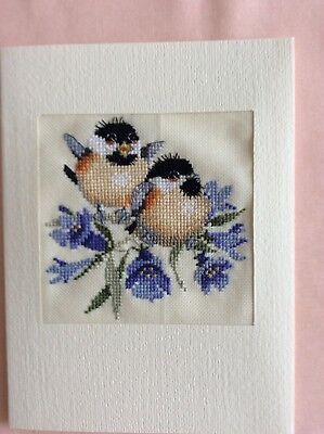 Completed Cross Stitch Card 8 X 6 Inches