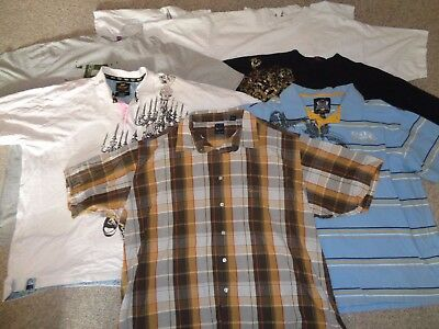 Huge Lot Mens Casual Shirts Polo Kani Gold Ecko Rocawear Short Sleeve Size 4Xl
