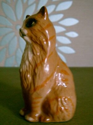 ROYAL DOULTON CAT SEATED No DA 194 GINGER GLOSS PERFECT CONDITION