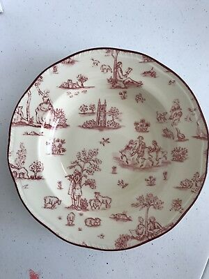 Wood And Sons Fine Tableware Toile De Jouy Scallop Soup Bowl EUC
