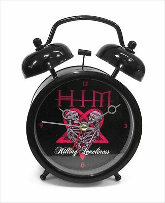 Him - Goth Punk Killing Loneliness Pink Heartagram Metal Alarm Clock - New