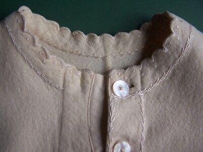 Authentic Antique Wool Nightgown Dress Nightdress/Late 1800s/Small Homemade